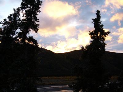 デナリ国立公園夕焼け