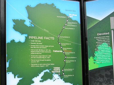 アラスカ石油パイプライン地図