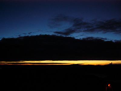 スキーランド夕焼け
